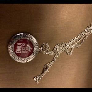Weasley is our king locket necklace.  Never worn.
